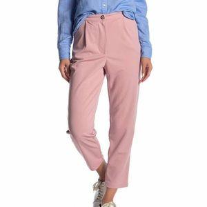 Pink high waisted pants.